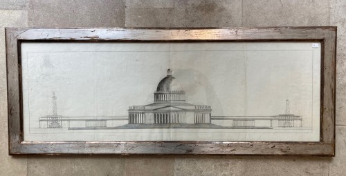 Paintings & Drawings  - Pair of architectural drawings, french school 18th century