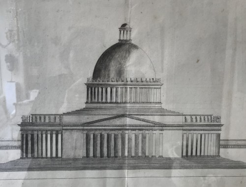 18th century - Pair of architectural drawings, french school 18th century