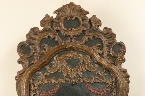 - Pair of italian 18th century painted papier-mâché sconces