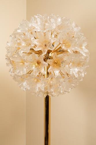 Lighting  - 1960's Venini - Murano flower floor lamp