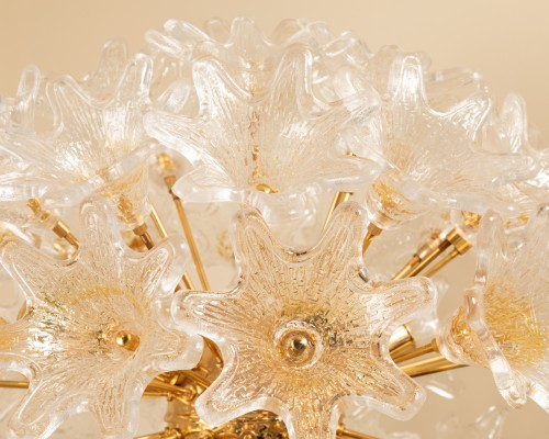 1960's Venini - Murano flower floor lamp -