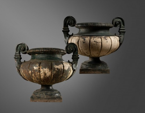 19th century Pair of french cast-iron garden vases  - Architectural & Garden Style Napoléon III