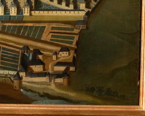 Paintings & Drawings  - Pair of 18th century paintings of monastery