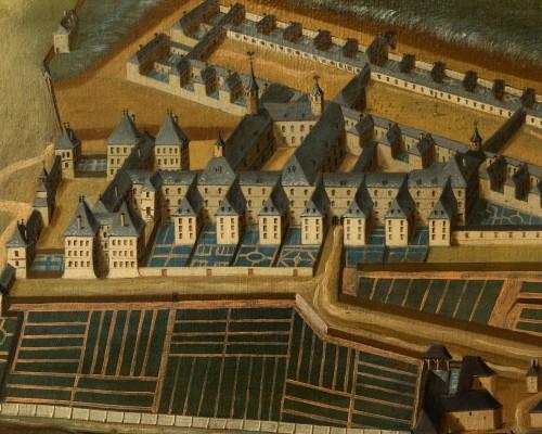 18th century - Pair of 18th century paintings of monastery