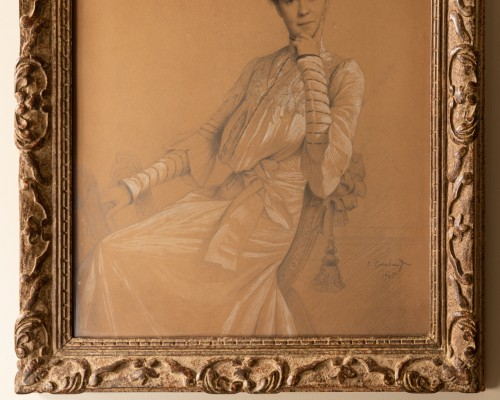 Coraboeuf (1870- 1947), Portrait Of Seated Woman - Paintings & Drawings Style