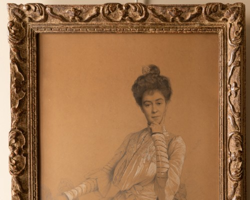 Coraboeuf (1870- 1947), Portrait Of Seated Woman -