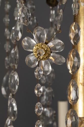 18th century Italian eight-light chandelier - Lighting Style Louis XVI