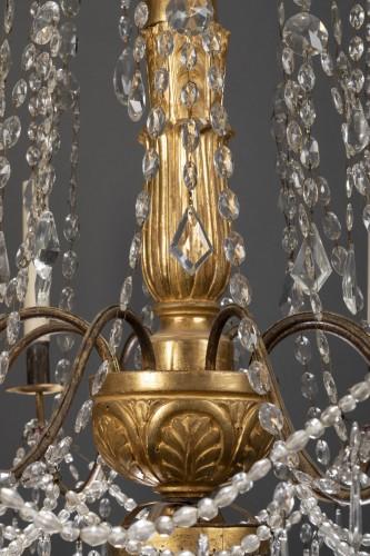 18th century Italian eight-light chandelier -