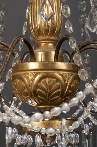 Louis XVI - 18th century Italian eight-light chandelier