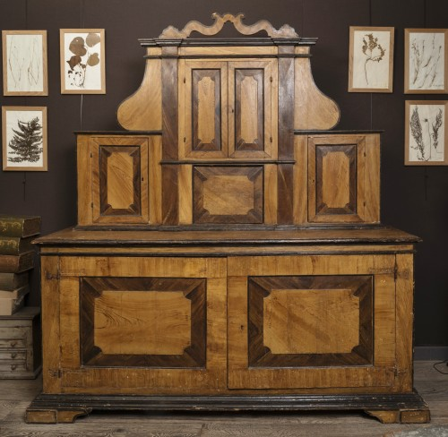 Large Italian Painted Cabinet 17th -