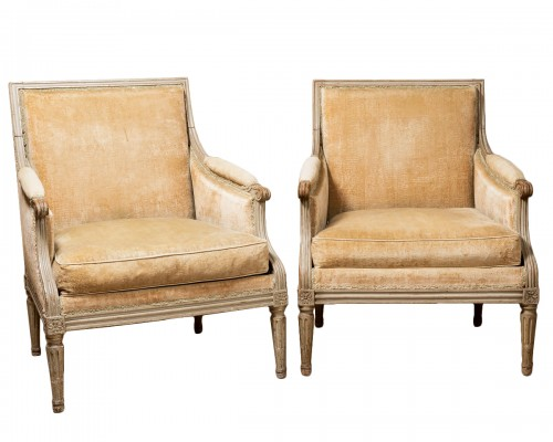 Pair of french bergères