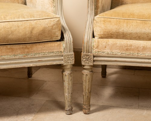 Pair of french bergères -