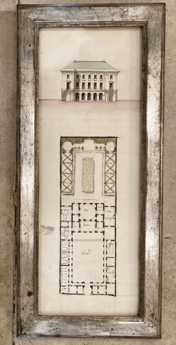 Paintings & Drawings  - pair of architectural drawings, France 18th century