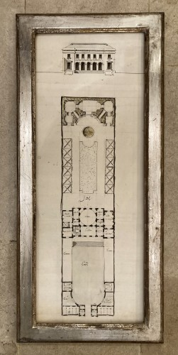 pair of architectural drawings, France 18th century -