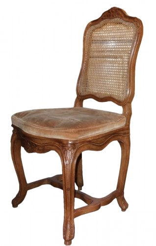 6 french caned chairs in natural wood