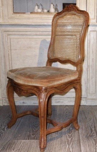 Napoléon III - 6 french caned chairs in natural wood