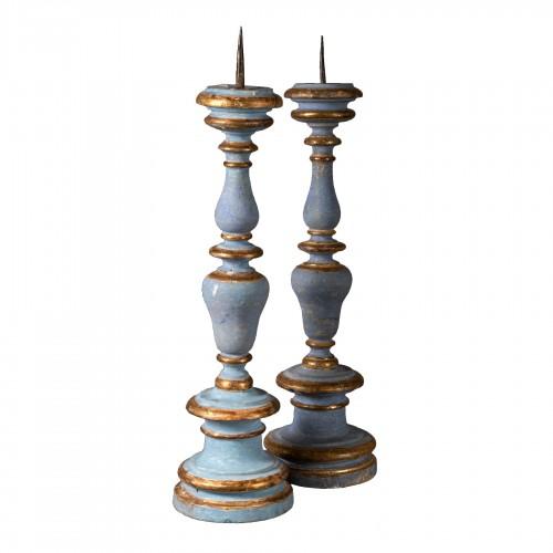 Pair of 18th century candelsticks
