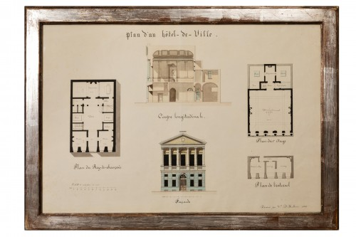 19th century architectural drawing