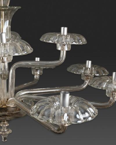 20th century - Lustre en verre soufflé, Tchécoslovaquie, 1930-40