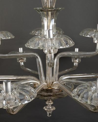 Lustre en verre soufflé, Tchécoslovaquie, 1930-40 - Art Déco