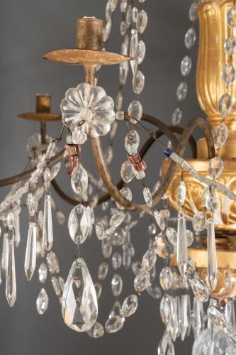 Genoese Chandelier, Italy Late 18th Century - Lighting Style Louis XVI