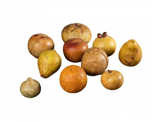 Collection Of 10 Marble Fruits