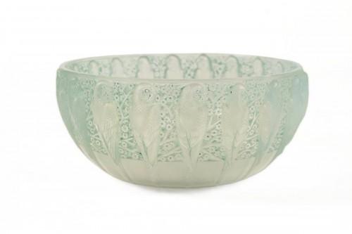 """René Lalique - Opalescente bowl """"Perruches"""""""