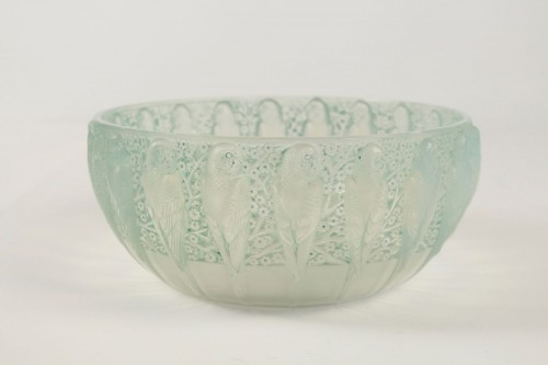 "René Lalique - Opalescente bowl ""Perruches"" - Glass & Crystal Style"