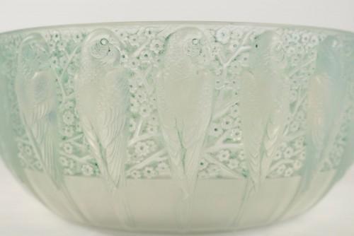 """René Lalique - Opalescente bowl """"Perruches"""" -"""
