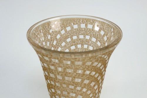 "René Lalique Vase ""Damiers"" - Glass & Crystal Style"