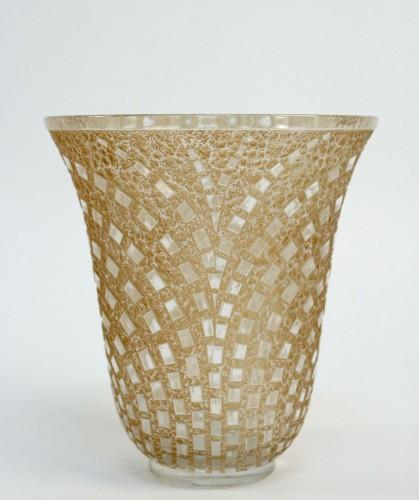 """20th century - René Lalique Vase """"Damiers"""""""
