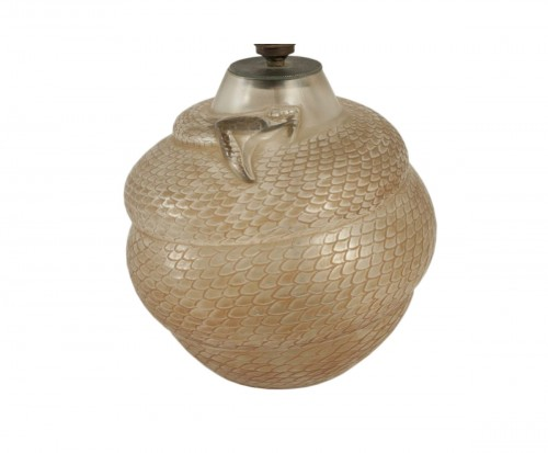 """René Lalique - Vase Serpent """"réflecteur"""""""