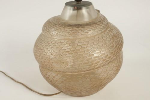 """Antiquités - René Lalique - Vase Serpent """"réflecteur"""""""