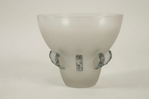 """Antiquités - René Lalique Vase"""" Carthage"""""""