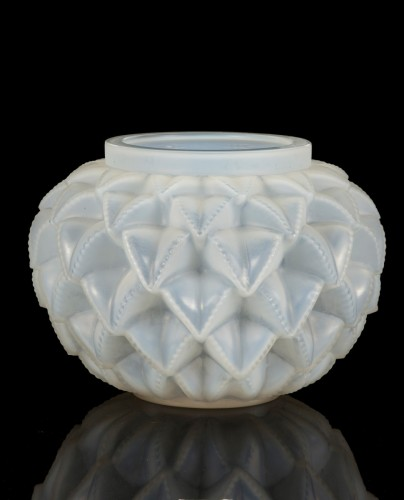 "Glass & Crystal  - René Lalique - Opalescent ""Languedoc"" Vase"