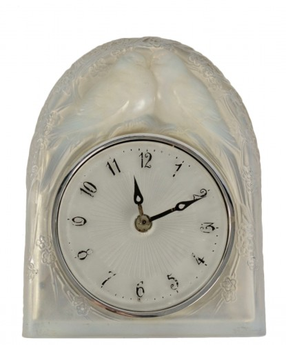 LALIQUE René - « Two perched birds » Clock