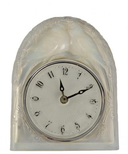 LALIQUE René - « Two perched birds » Clock