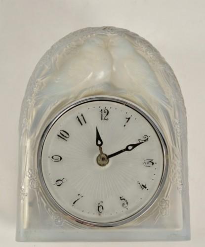 Antiquités - LALIQUE René - « Two perched birds » Clock