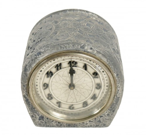 """René Lalique & ATO -  Clock """"Eglantines"""""""