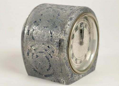 "René Lalique & ATO -  Clock ""Eglantines"" - Glass & Crystal Style"