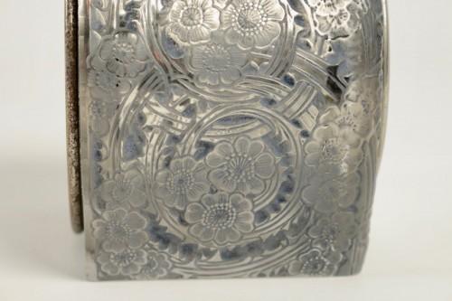 """Glass & Crystal  - René Lalique & ATO -  Clock """"Eglantines"""""""