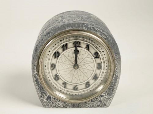 """Antiquités - René Lalique & ATO -  Clock """"Eglantines"""""""