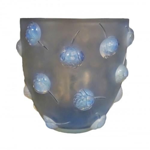 "René Lalique Opalescent Vase ""Peonies"""