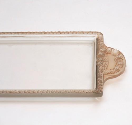 """Glass & Crystal  - René Lalique - """"Roses"""" Jardinière"""