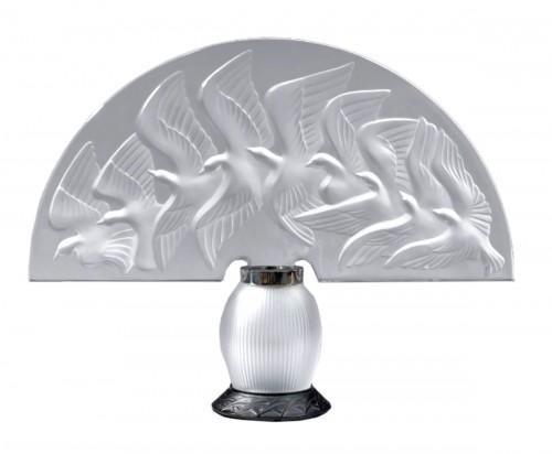 "LALIQUE & Marie Claude Lalique "" HOKKAIDO "" Lamp"