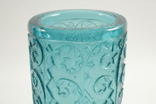 Daum Nancy Monumental and Thick Art Deco Vase - Glass & Crystal Style