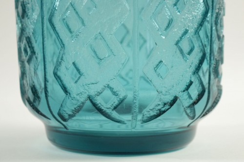 Daum Nancy Monumental and Thick Art Deco Vase -
