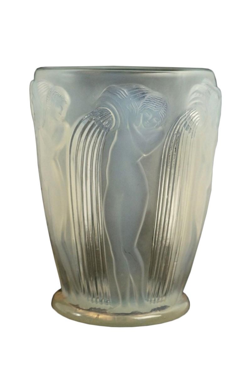 ren lalique vase danaides opalescent - Lalique Vase