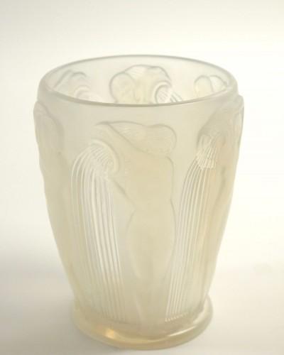 """Glass & Crystal  - René Lalique Vase """"Danaides"""" Opalescent"""