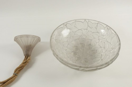 """Antiquités - René Lalique (1860-1945) - Ceiling lamp """"Charmes"""""""